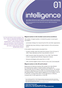 The front page of Intelligence.