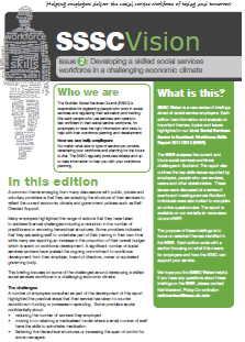 The front page of SSSC Vision issue two.